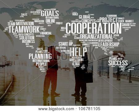 Cooperation Unity Partnership Collaboration Teamwork Concept