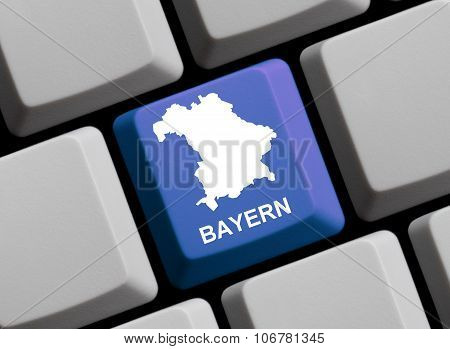 Computer Keyboard - German Federal State Bavaria