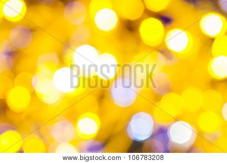 Yellow And Violet Flickering Christmas Lights
