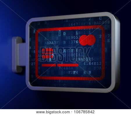 Money concept: Credit Card on billboard background