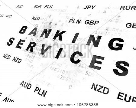 Currency concept: Banking Services on Digital background
