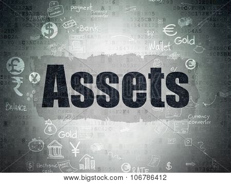 Money concept: Assets on Digital Paper background