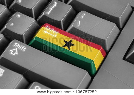 Enter Button With Ghana Flag