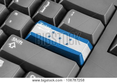 Enter Button With Honduras Flag
