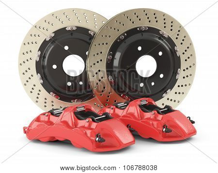 Performance Car Brakes. Auto Parts
