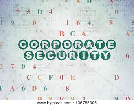 Security concept: Corporate Security on Digital Paper background
