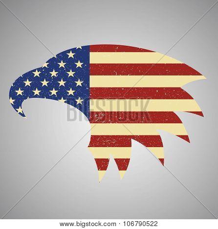 American Eagle Flag. American Flag Eagle Shaped.