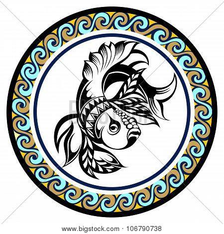Decorative Zodiac sign Pisces