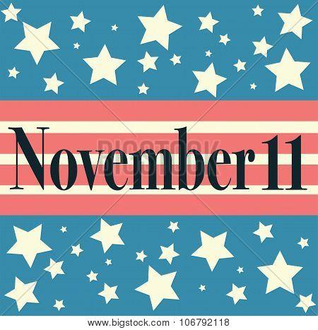 Veterans Day Emblem. November 11