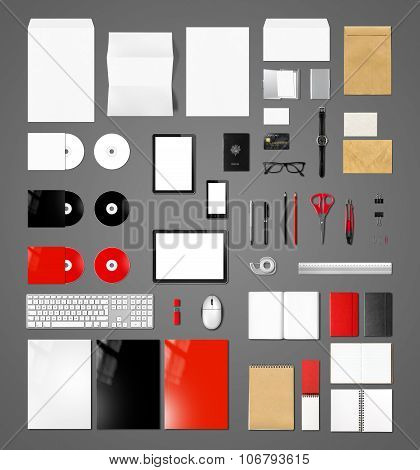 Products Branding Mockup Template, Dark Grey Background