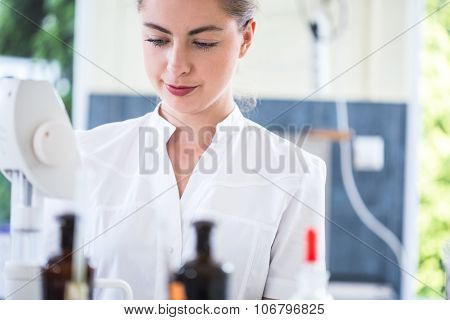 Microbiology Student During Internship