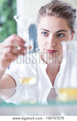 Chemist Conducting Test Of Substances