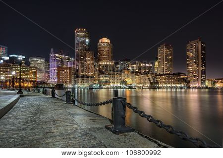 Bostons waterfront and Harbor