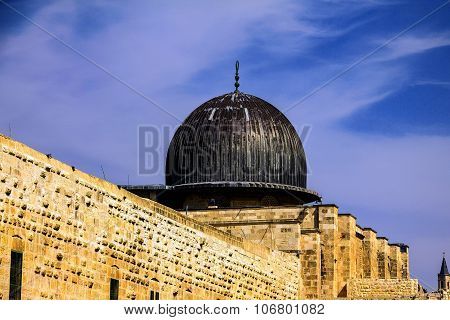 Al Aqsa Mosque,  Third Holiest Site In Islam On  Temple Mount At The Old City .  Jerusalem