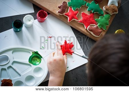 Hand crafted christmas toys.