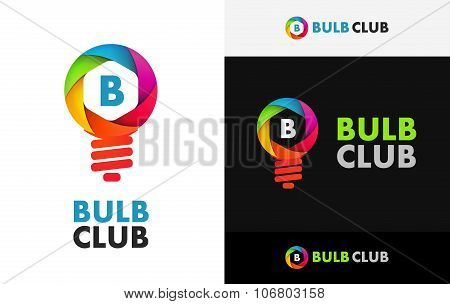 Icon Of Bulb Of Colorful Shutter