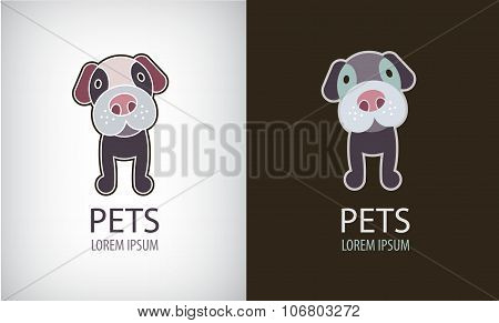Vector set of funny cartoon dog logo, icon, illustartion.