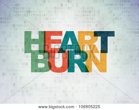 Healthcare concept: Heartburn on Digital Paper background