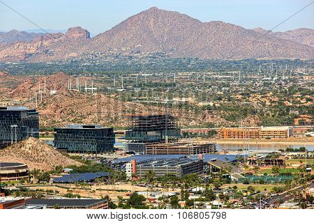 Camelback Mountain From Tempe, Arizona