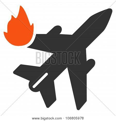 Airliner Fire Icon