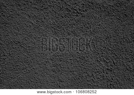 Rough Texture Plastered Surface Of Black Color