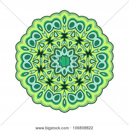 Mandala in green color