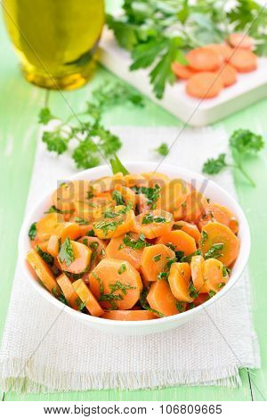 Salad From Carrots And Herbs