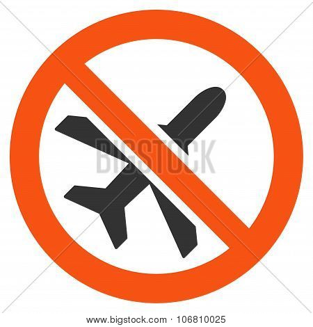 Forbidden Airplane Icon