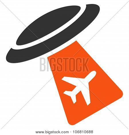 Ufo Abduct Plane Icon