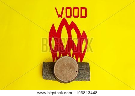 The Fire Created By Pieces Of Wood