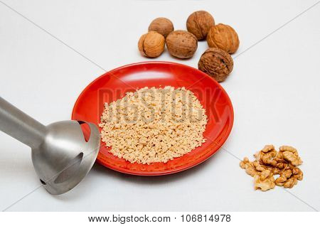 Blender And Walnuts