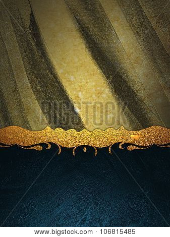 Beautifully Designed Template For Text With Gold Inlay. Element For Design. Template For Design. Cop