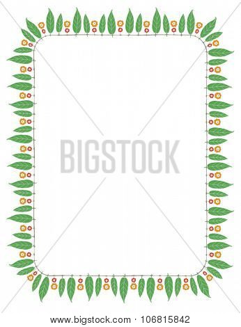 Indian festive decorative border. Vector illustration.