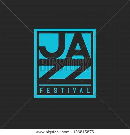 Jazz Festival Mockup Poster Lettering, Musical T-shirt Print Graphic Design Element