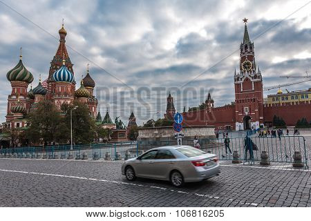car at Red Square