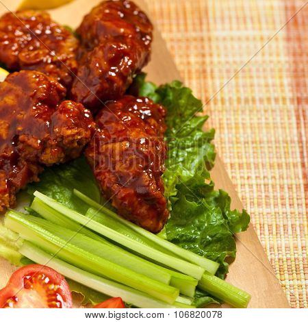 Baked Fried Barbecue Chicke