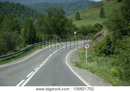Siberia, Russia - June 10, 2012: The Russian Route M52 (r256), Also Known As Chuya Highway Or Chuysk