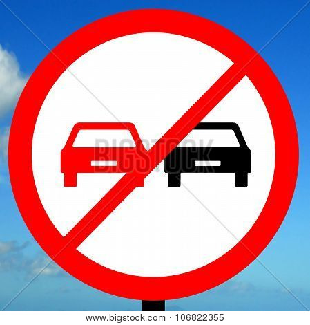 End of no overtaking road traffic sign