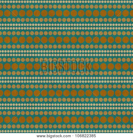 Orange And Green Polka Dot  Abstract Design Tile Pattern Repeat Background