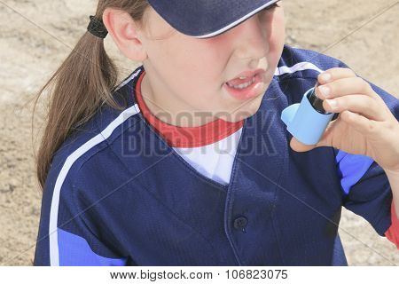 baseball player having a asthma crisis