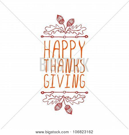 Happy Thanksgiving - typographic element
