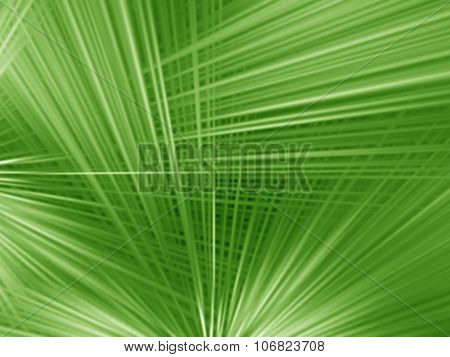 Radial Abstract Green Background