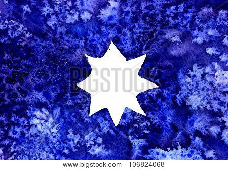 Abstract White Star