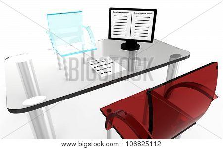 Job Interview Desk