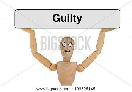 Puppet With Guilty Face
