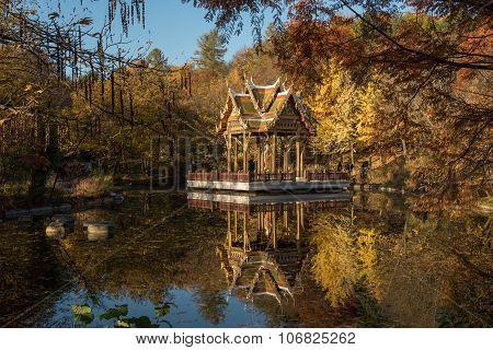 MUNICH, GERMANY - NOVEMBER 1, 2015: Sala Thai in autumn, Westpark, Munich, Germany