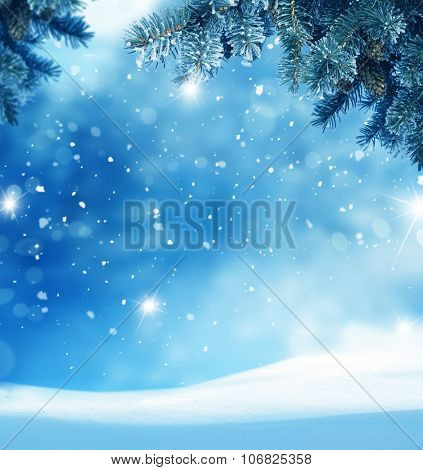 Beautiful abstract winter christmas background