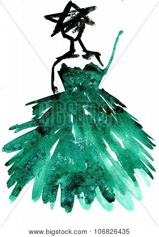 Christmas Tree Dress Party Girl