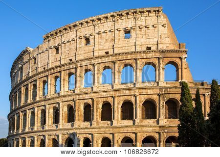 Sunrise Colosseum in Rome, Italy