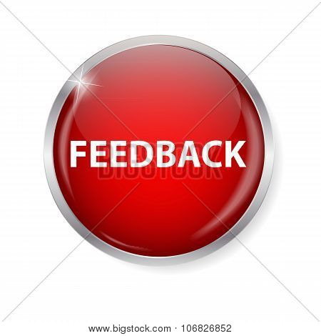 Realistic Glossy Feedback Computer Icon  Button Vector Illustrat